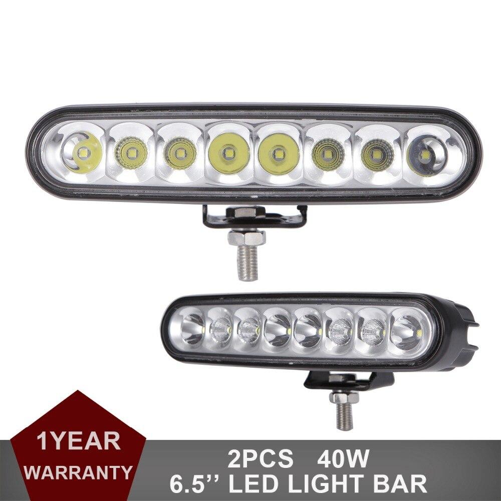 40W LED Work Light Bar Offroad SUV Car Tractor Boat 4WD 4x4 Truck ATV Auto Headlight Combo 12V 24V Wagon Driving Fog Lamp