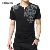 2016 Four Season Fashion Men S T Shirt Creative Letter Print Button Henry Collar Short Sleeve