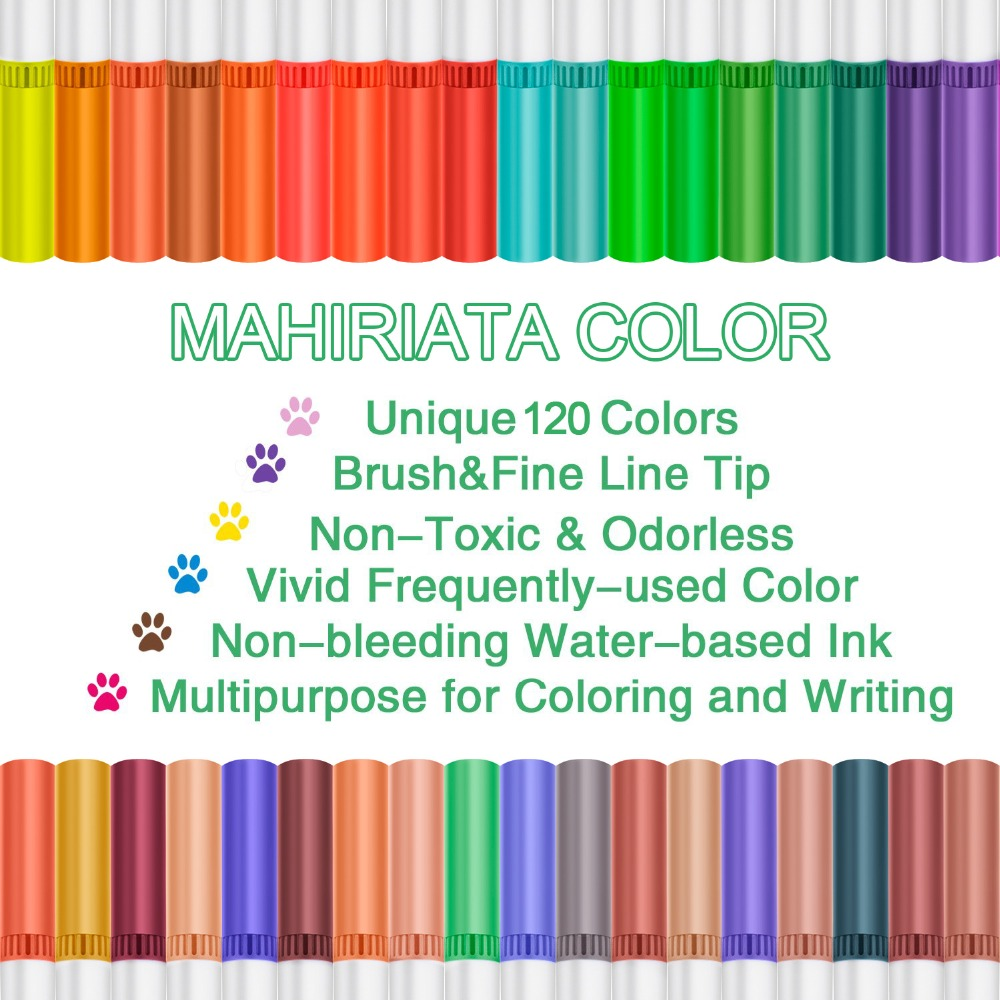 Image 2 - Touchfive 60/72/100/120 Colors Dual Brush Tip Markers Watercolor Pen Art Supplies Washable Pen For drawing Painting Skech Pen-in Art Sets from Office & School Supplies