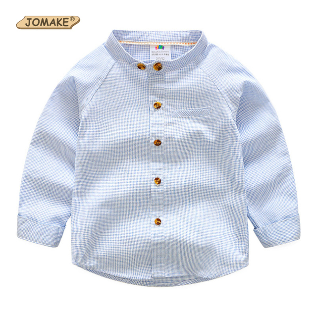 39b645b5906d 2017 New Spring Plaid Baby Boys Shirts Kids Cotton Shirt Long Sleeve  Children's Clothing For Boy Brand Boys Blouse Age 2T-9T