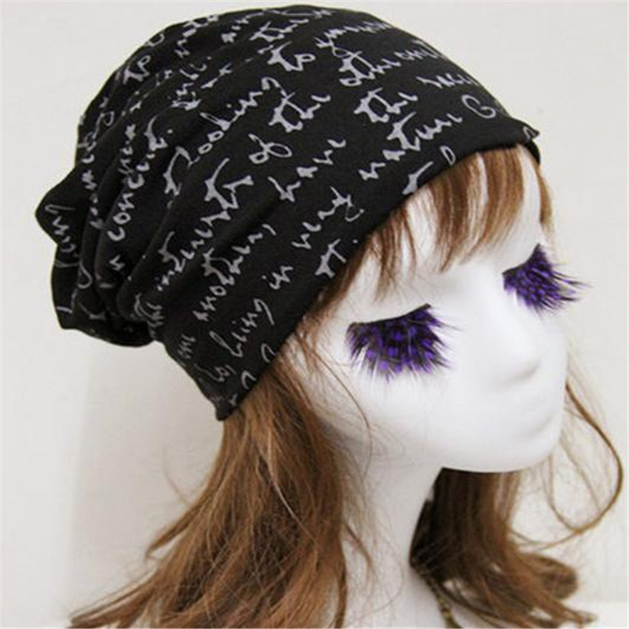 Liva Girl Letter Hedging Cap Men Women Skullies Beanies Knitting Caps Bonnet Double Layer Thin Cotton Hat Autumn Winter winter women hedging skullies beanies knitting caps bonnet double layer cotton knitted hat lace cap