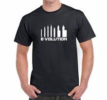 Men's Novelty Vaping T-Shirt Evolution of Vaping Pens Mods Short Sleeves 100% Cotton Summer O-Neck Hipster Tops Top Tee T Shirt