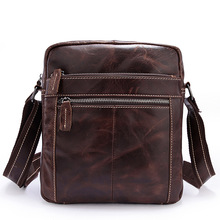 Genuine Leather Male Fashion Small Bag Top Quality First Layer Cowhide Casual Shoulder Bag Burnished Cowhide Designer Crossbody цены