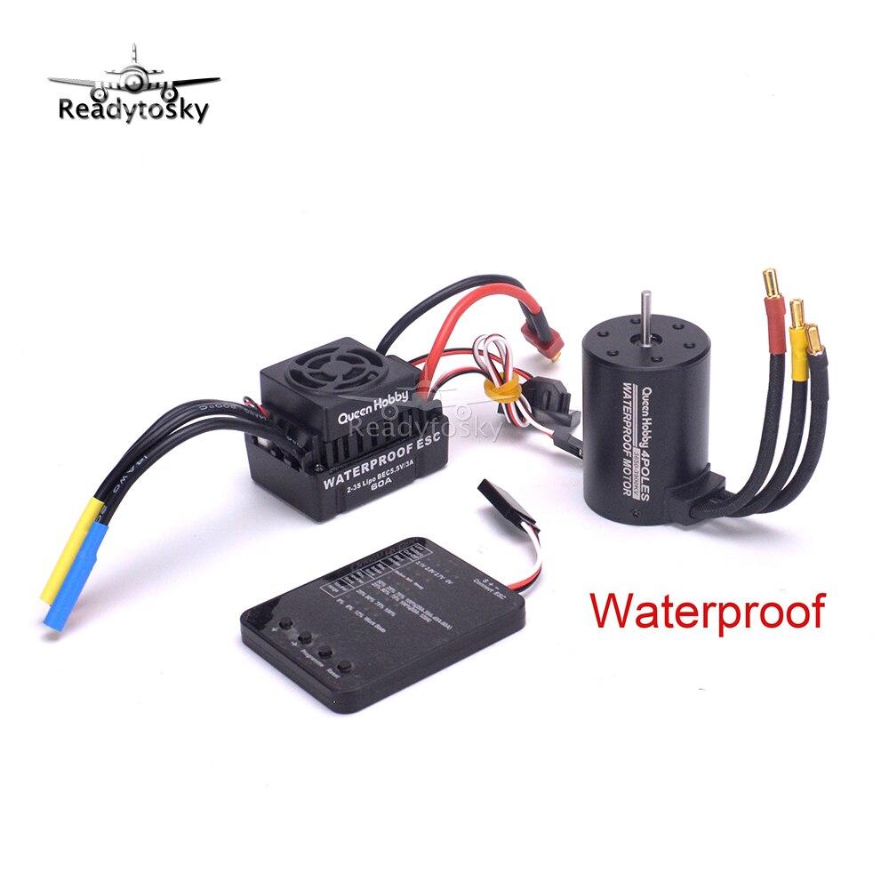 Upgrade Waterproof 3650 3900KV / 3670 2660KV 2150KV / 3660 3300KV 3800KV RC Brushless Motor 60A 80A 120A ESC for 1/10 RC Car kit