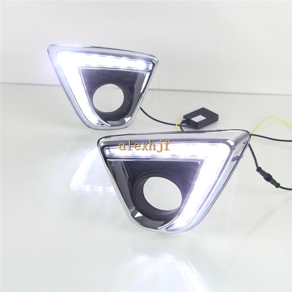 July King LED Daytime Running Lights DRL With Fog Lamp Cover, LED Fog Lamp case for Mazda CX-5 2012~15, 1:1 Replacement, L type for opel astra h gtc 2005 15 h11 wiring harness sockets wire connector switch 2 fog lights drl front bumper 5d lens led lamp