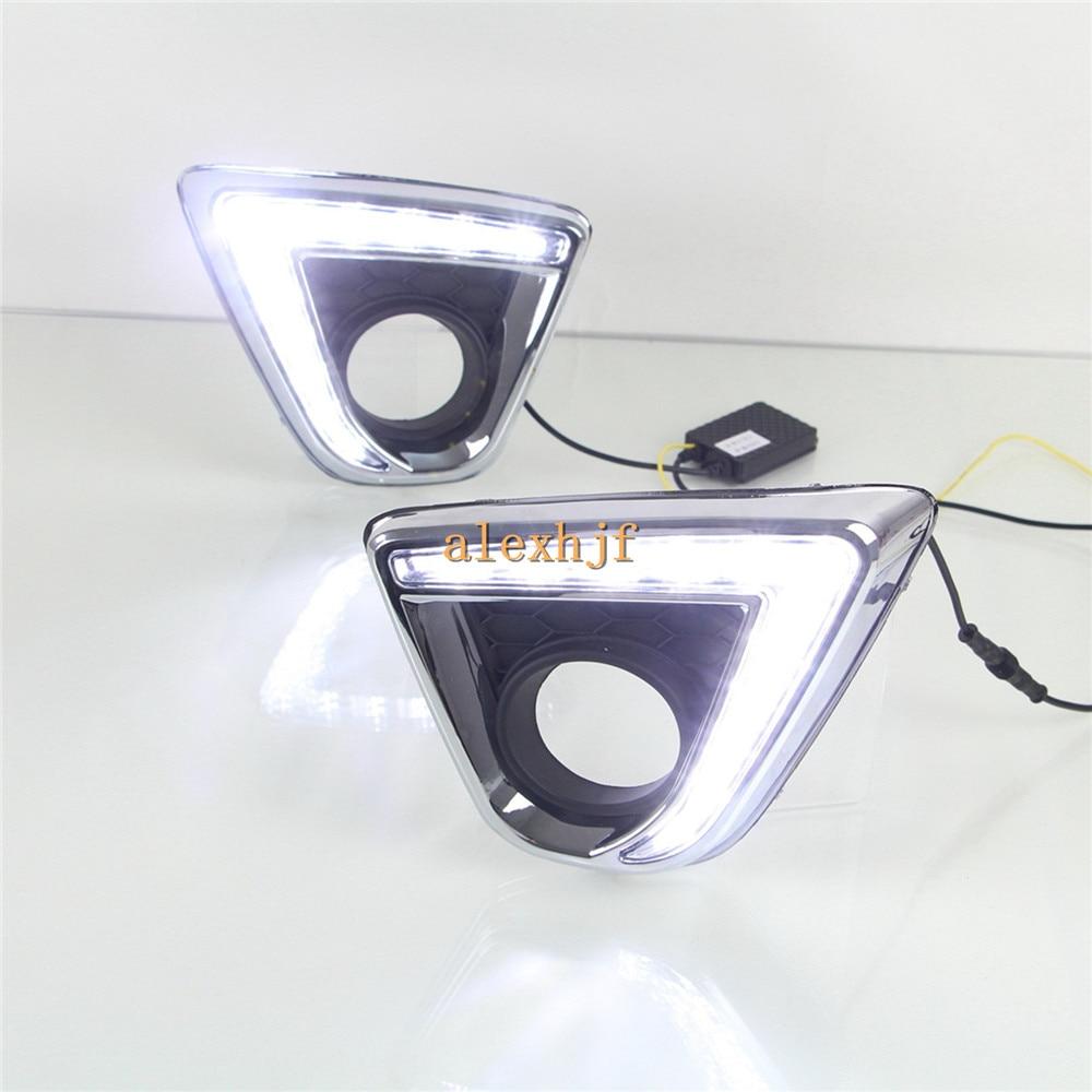 Король июле светодиодные дневные ходовые огни DRL с туман крышки лампы, светодиодные Противотуманные лампы чехол для Mazda СХ-5 2012~15, 1:1 замена, L Тип