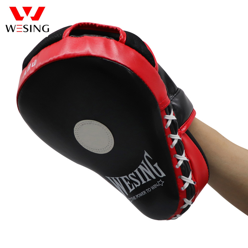 Wesing Boxing Curved Punch Pads Karate Mitts Muay Thai Kick Pad Punch Mitt Focus Target Training