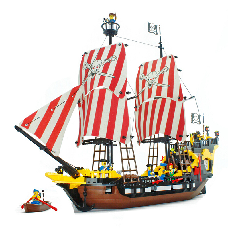 model building kits compatible with lego city pirate 833 3D blocks Educational model & building toys hobbies for children lepin 02012 city deepwater exploration vessel 60095 building blocks policeman toys children compatible with lego gift kid sets