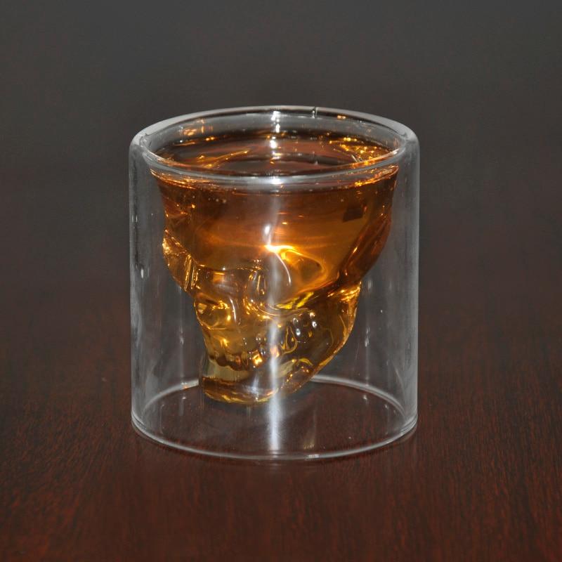 3 veličine Dva načina Shot Prozračni kristalni lubanje Glava - Kuhinja, blagovaonica i bar - Foto 3
