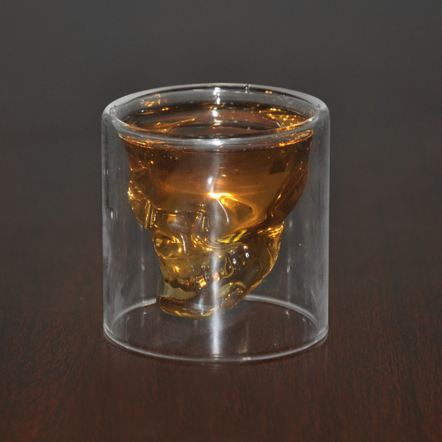 Crystal Skull Whiskey Wine Glass