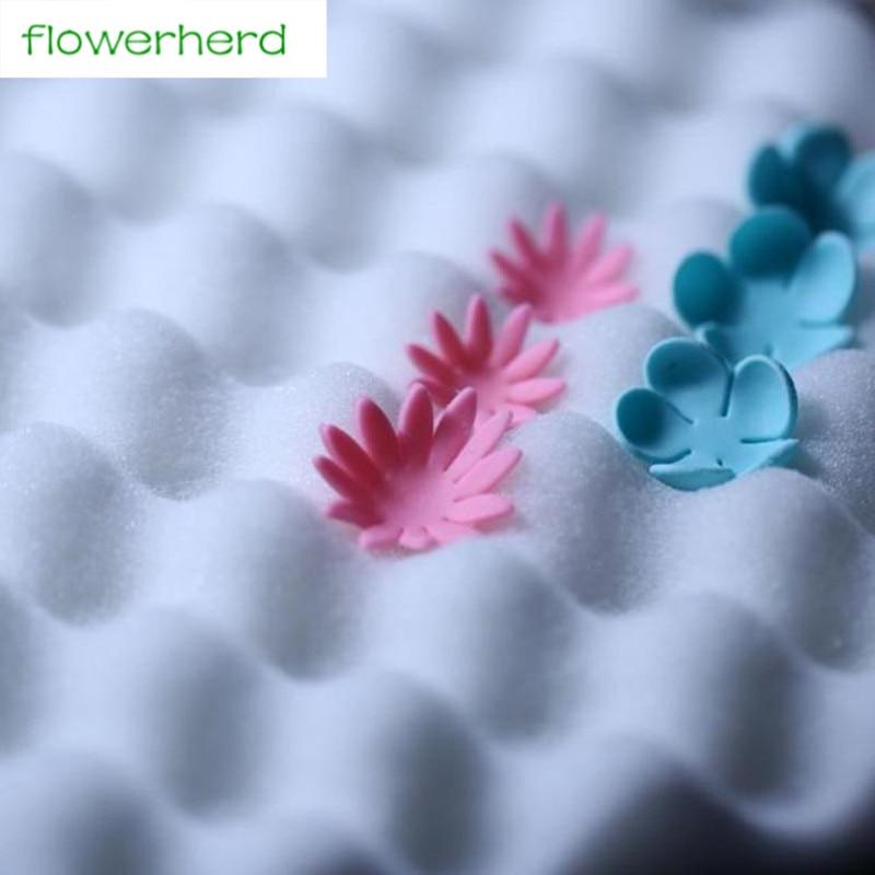 2 st 36x24cm kvadratisk form blommodellering Fondant tårta skumblomma svamp gummi klistra dekoration mat för blomman gör verktyget