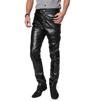 Motorcycle Pants Men PU Leather Pants Riding Trousers Riding Touring Moto Motorbike Pants Pantalon Protective Gear