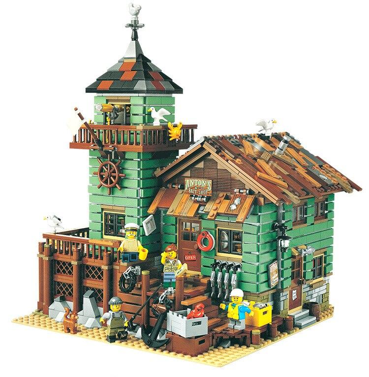 Le Vieux Finissage Magasin 2049 pièces modélisme kits compatible avec lego brique GPM Série Enfants Éducatifs