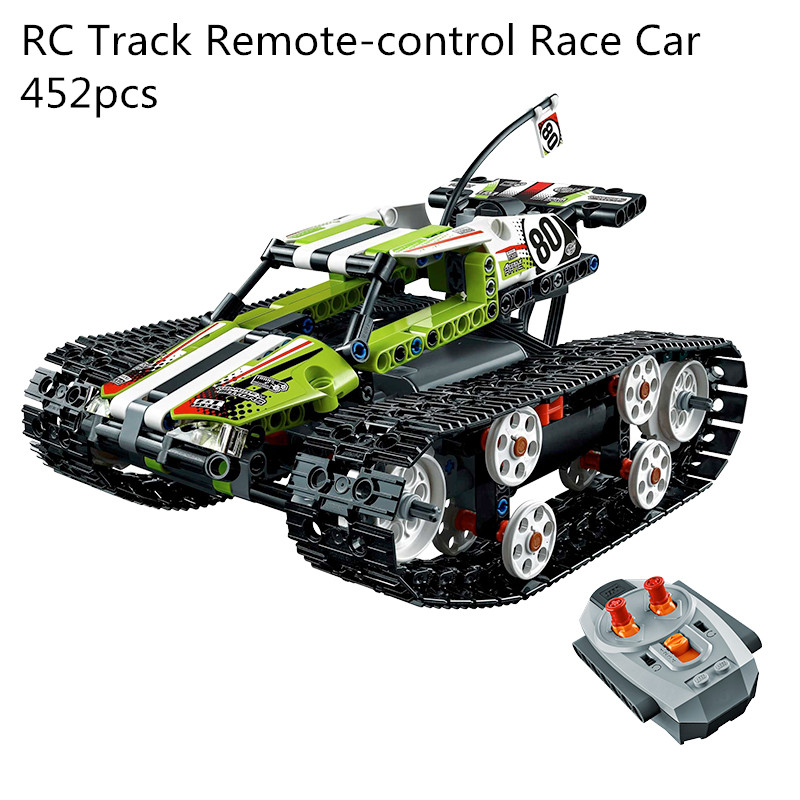 20033 452pcs Model building kits Compatible with Lego 42065 RC Track Remote-control Race Car Set Bricks figure toys for children
