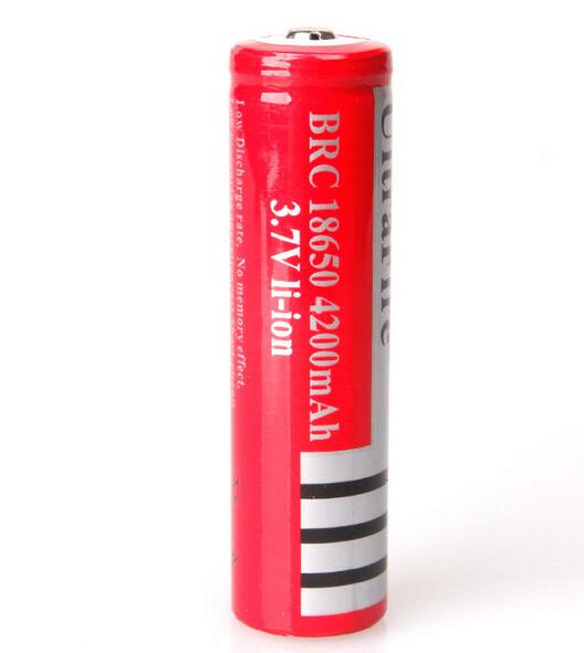 Kingwei 2 Pcs / Lot 3.7V 18650 4200 MAh Battery Rechargeable Li-ion Battery For LED Torch Flashlight Camera Toys Wholesale