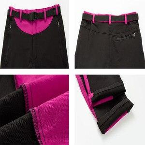 Image 5 - NUONEKO Womens Quick Dry Outdoor Hiking Pants Summer Sports Elastic Waterproof Pants Camping Trekking Climbing Trousers PN32