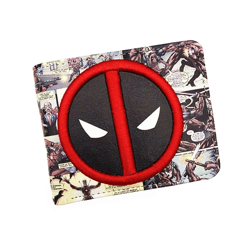 Hot Sell New Arrive PVC and PU Leather Purse American Comic Deadpool Wallet With Card Holder Dollar Price Free Shipping 2016 new arrive pvc and pu leather purse american marvel comic deadpool wallet with card holder dollar price free shipping