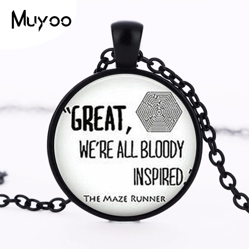 Steampunk Drama THE MAZE RUNNER Quote Pendant silver mens Necklace doctor dr who chain man jewelry women new chain men HZ1