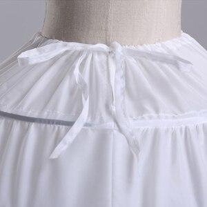 Image 4 - 6 Hoops White Petticoats Bustle Ball Gown Wedding Dress Underskirt Bridal Crinolines