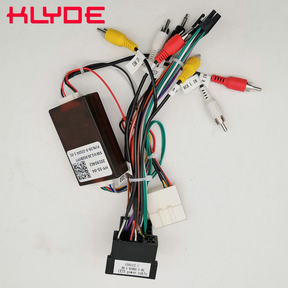 KLYDE Car Stereo Radio Wire Power Harness Adapter With Canbus Decoder For KIA Sorento Sportage/Hyundai IX35 Santa Fe Verna