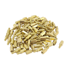 100 Unids M3 PCB Spacer Brass Hex Stand-off Pilar Mujer Hombre 8mm