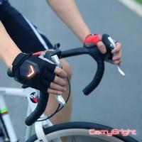 2019 latest mountain bike cycling gloves LED turn indicator road bike safety indicator gloves
