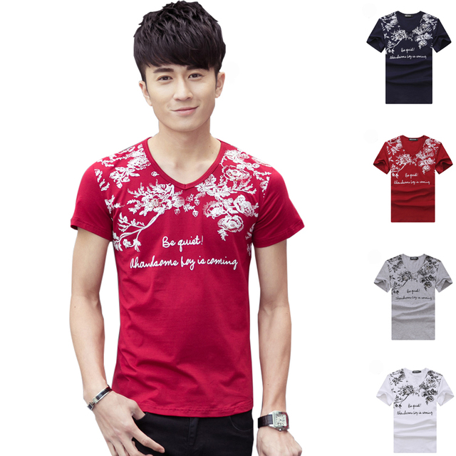 1c8f012db 2016 New Fashion Trend Print Summer style Men Cotton Casual Sport Outdoor  Running T-Shirt