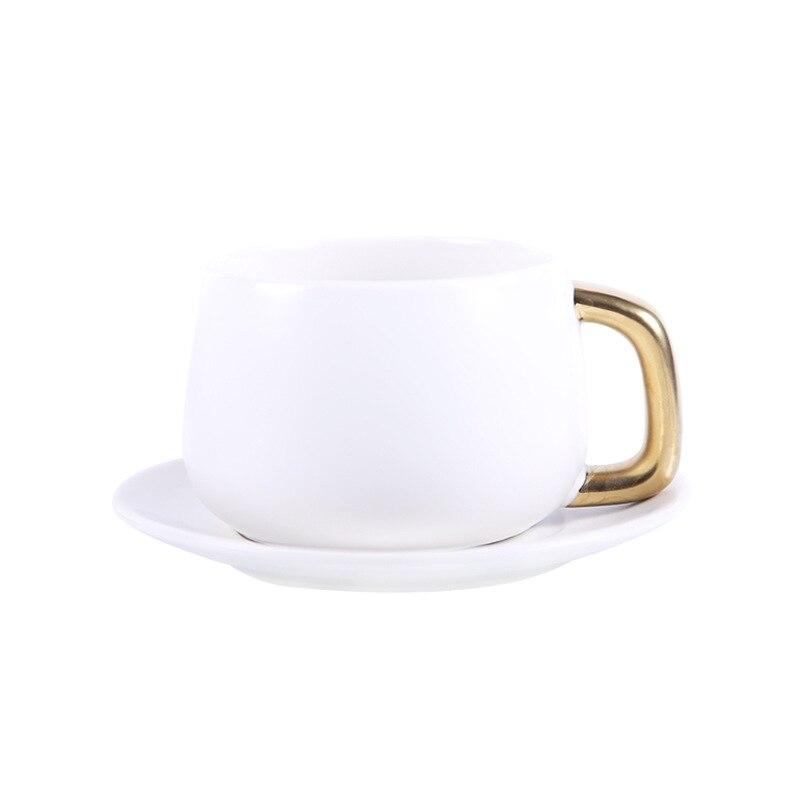 300 ml einfache Europäischen kaffee tasse und untertasse Paar kaffee becher Geschenk keramik tasse Büro becher Milch frühstück tasse - 6