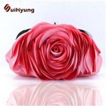 Neue Mode Frauen Party Abendtasche. elegante Dreidimensionale Blumen Hochzeit Handtaschen. dame Seide Tag Clutches handtasche Multicolor