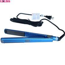 Sale Professional Nano Titanium Straightening Iron Electric Flat Hair Straightener Iron U style 1 piece free shipping brand new