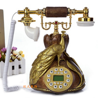 European antique vintage fashion craft antique telephone pastoral home phone telephone Redial Dial Rotary