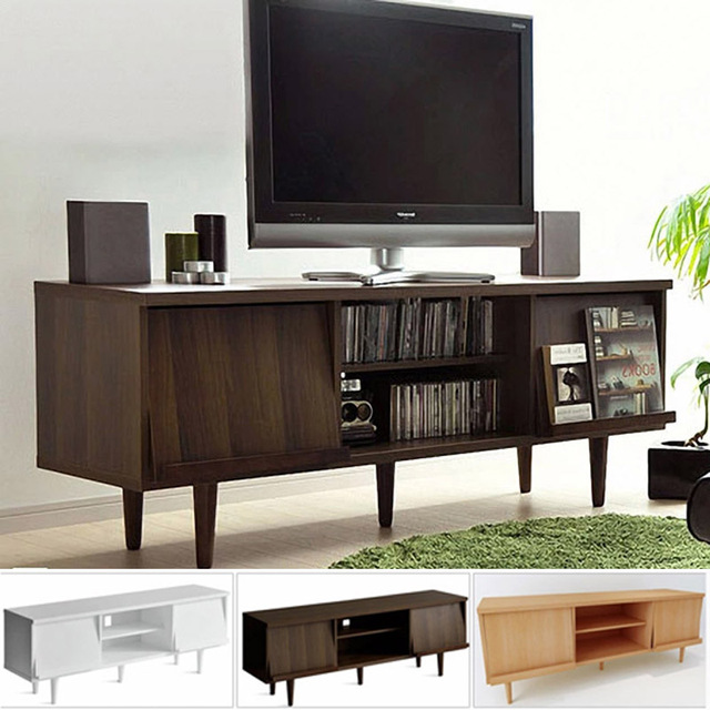IKEA Solid Wood TV Cabinet Minimalist Living Room Modern Japanese Style Small Apartment