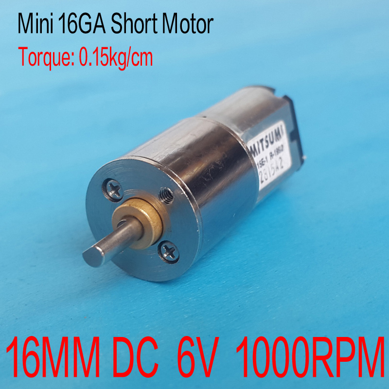 1000RPM 16MM Short <font><b>DC</b></font> <font><b>6V</b></font> <font><b>Motor</b></font> High Torque <font><b>Gear</b></font> Box <font><b>Motor</b></font> Inversion <font><b>dc</b></font> 3V <font><b>6V</b></font> 7.4V <font><b>motor</b></font> Smart home/robot power system image