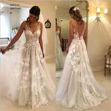 Пляжное свадебное платье vestido de noiva 2020 ТРАПЕЦИЕВИДНОЕ