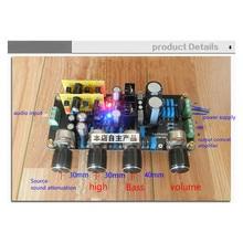 División de Control de Tono Del Volumen del Estéreo Preamplificador preamplificador Tono Completo Tweer Bajo ajuste de atenuación de la señal de fuente de Sonido