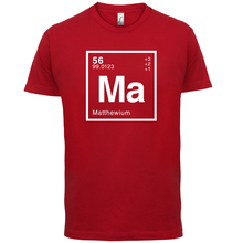 MATTHEW Periodic Element - Mens T-Shirt Geeky / Chemistry Short Sleeves O-Neck T Shirt Tops shirt Homme