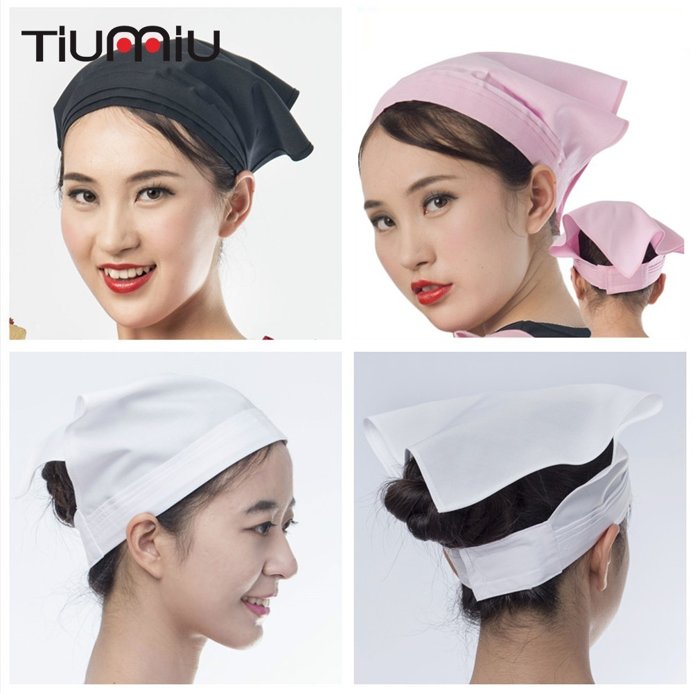 Chef Hat Waiter Waitress Kitchen Restaurant Canteen Bakery Work Cooking Cap Triangle Towel Cafe Bar Food Service Work Scarf