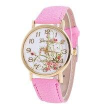 Geneva Idyllic Flower Pattern Watch Women's Watches Bayan Kol Saaty Fashion Romain Horloge Cadeau reloj de mujer Clock Cuckoo@50