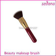 High Quality!!! Top selling Makeup Flat Angle Blush Brush,Wooden Handle Cosmetic Blush Brush Wholesale Price