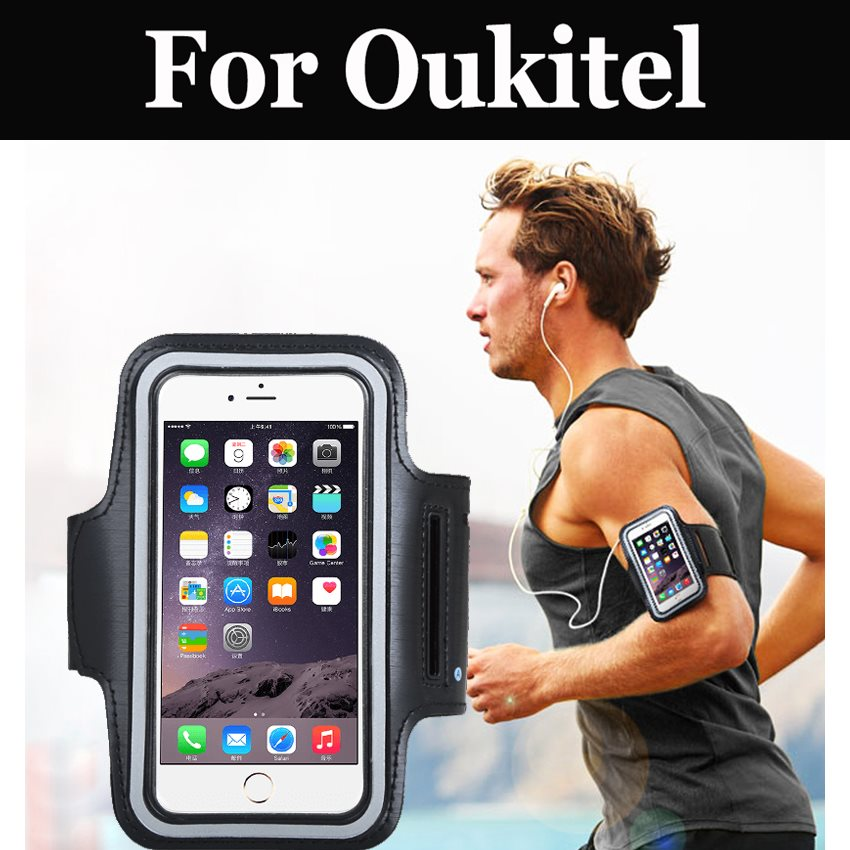 Cell Phone Arm Band Outdoor Bag Holder Running Bag Case Phone For <font><b>Oukitel</b></font> <font><b>K5000</b></font> Mix 2 K8000 C9 C11 Pro U18 K6 K10 K6000 Premium image