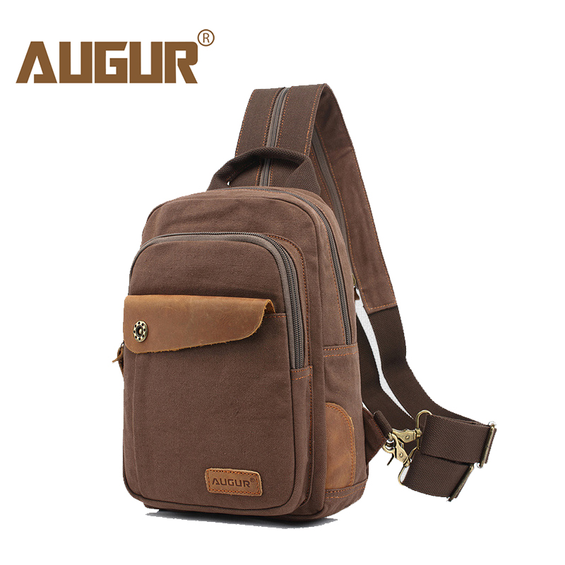 AUGUR 2018 Brand Messenger Bag MenS Back Pack Vintage Shoulder Bag For Men Canvas Casual Travel Crossbody Bags Bandolera Hombre ...