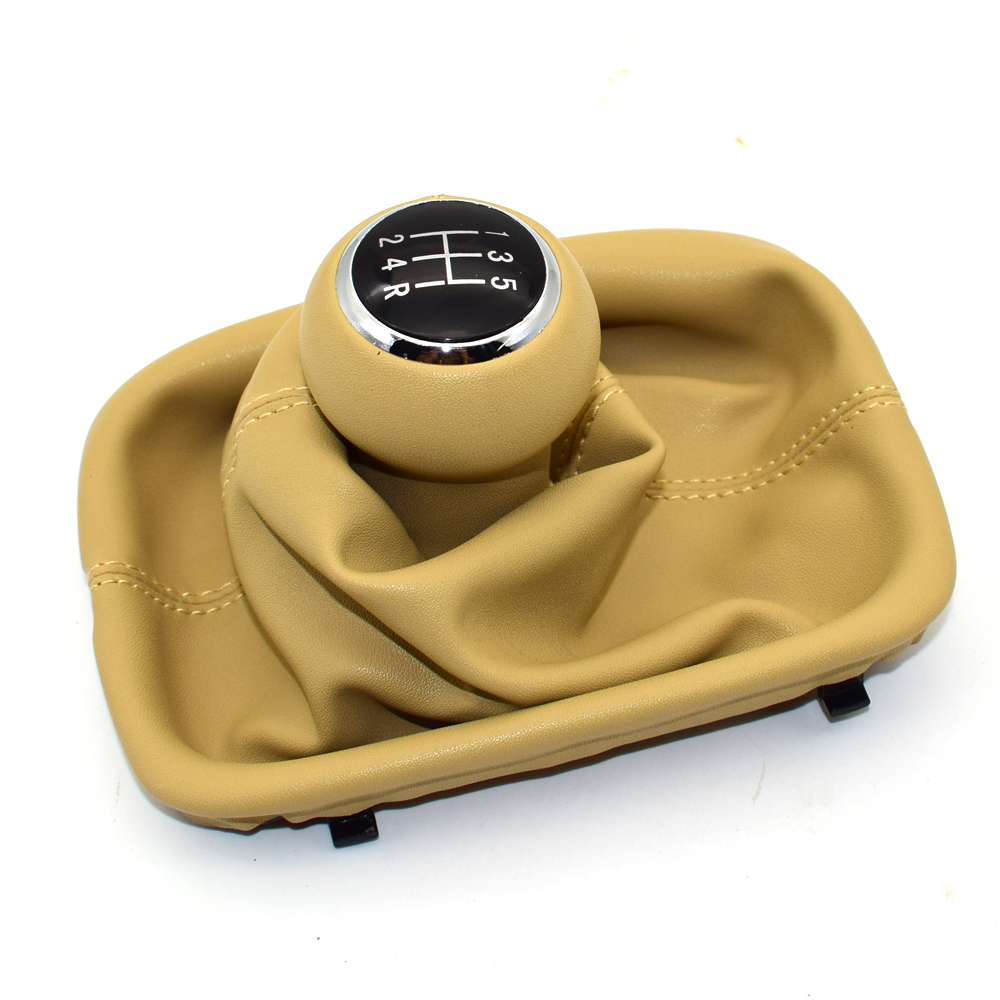 5 Speed Car Shift Gear Knob With PU Leather Gaitor Boot Collar Cover for <font><b>Audi</b></font> A6 C5 1997-2001 A4 B5 1998-2000 <font><b>A8</b></font> <font><b>D2</b></font> 5 GEARBOX image
