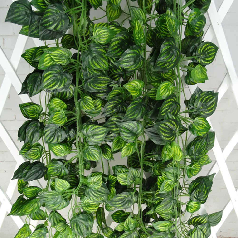 2m Künstliche Trauben Parthenocissus Blätter Reben Outdoor Wand Hängen Garten Decor Künstliche Pflanzen heißer verkauf Mode