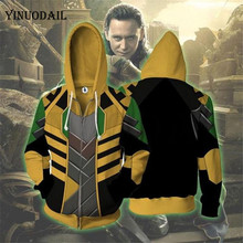 Avengers 4 Endgame Men and Women Zipper Hoodies An-ti Hero Loki 3D Hooded Jacket Superhero Sweatshirt Streetwear Cosplay Costume