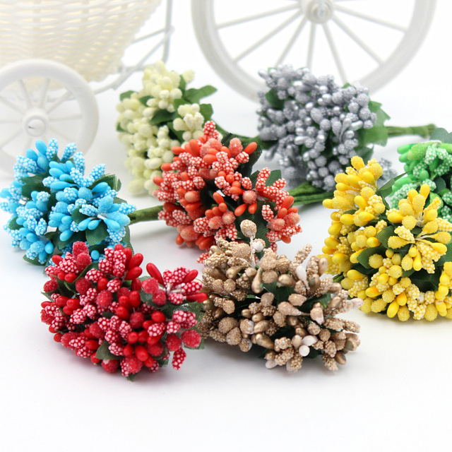 12Pcs/Lot DIY craft materials Bouquet Strawberry flowers Cambodia ...