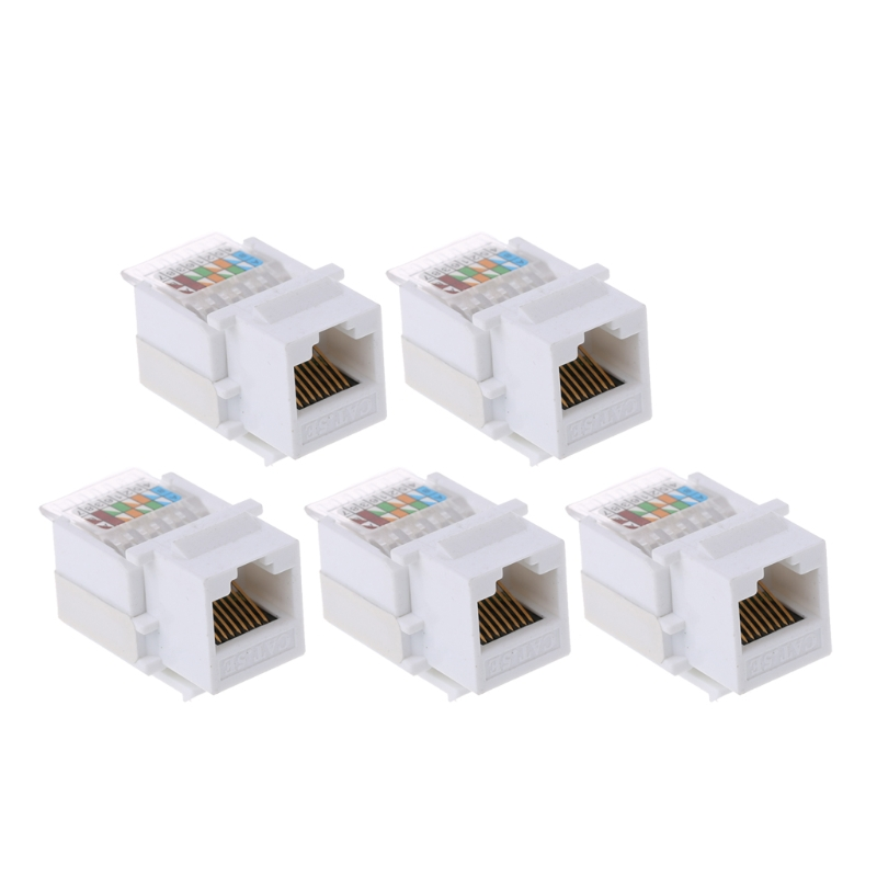5pcs CAT5E UTP Network Module Tool-free RJ45 Connector Cable Adapter FOR AMP