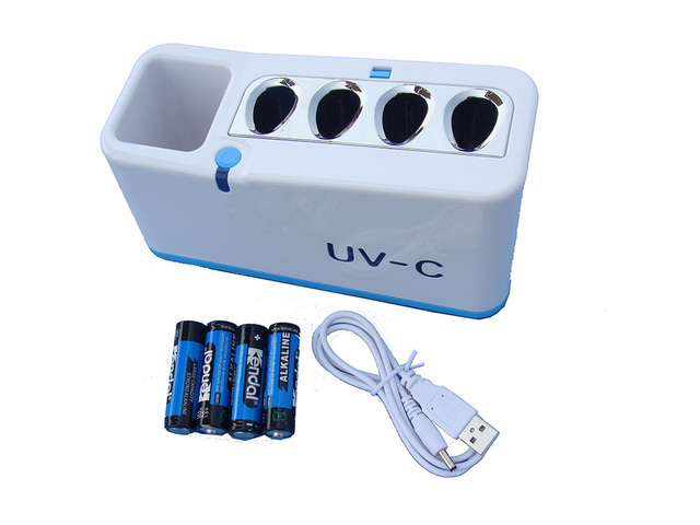 Top selling portable good quality UV-C light toothbrush sanitizer box/case/container