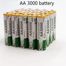 4 шт. Новая батарея AA 3000 mAh аккумуляторная батарея Ni-MH 1,2 V AA батарея для часов, мыши, игрушек и т. д. гарантия качества батареи