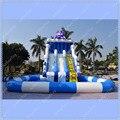 Гигантский Осьминог Надувной Бассейн Слайд, надувные Водные Горки для Детей, Надувные Слайд с Бассейном