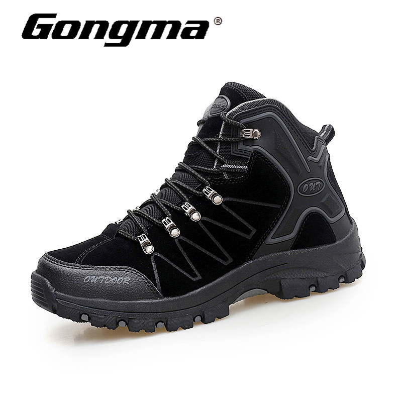 купить Gongma Hiking Shoes Men's Desert High-top Military Tactical Boots Men Combat Climbing Waterproof Sneakers Outdoor Winter Boots онлайн